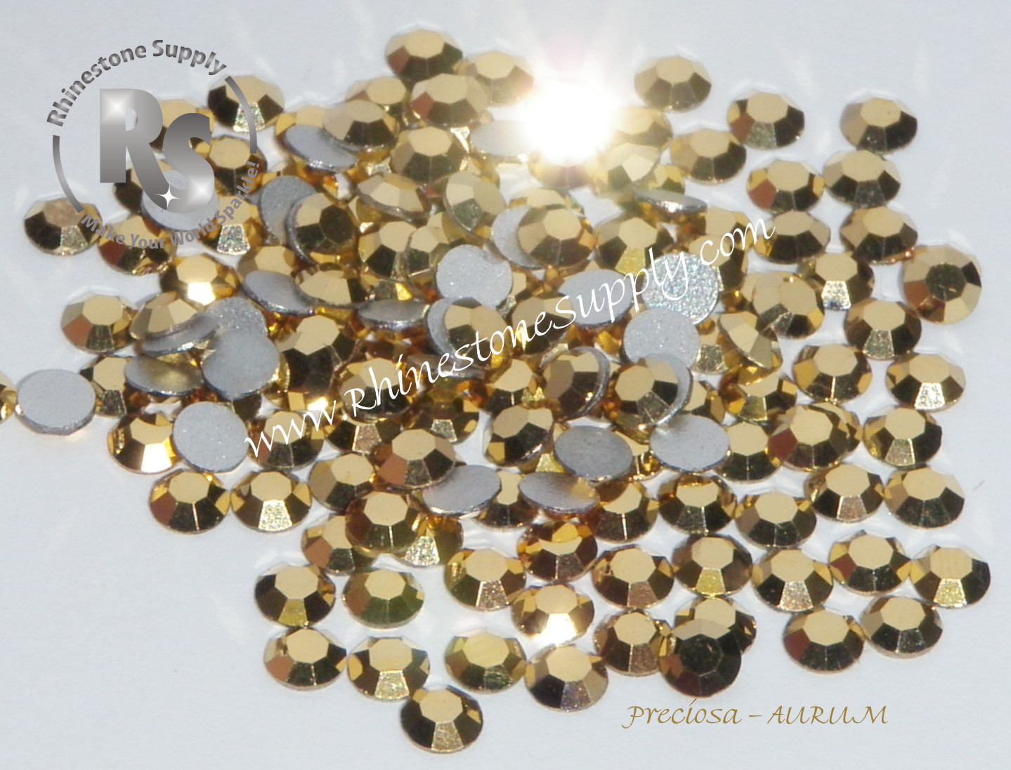 AURUM - HOT FIX - Flat Back Rhinestones - Preciosa