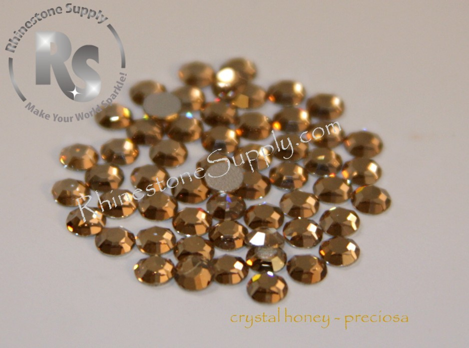 HONEY - HOT FIX - Rhinestones Preciosa