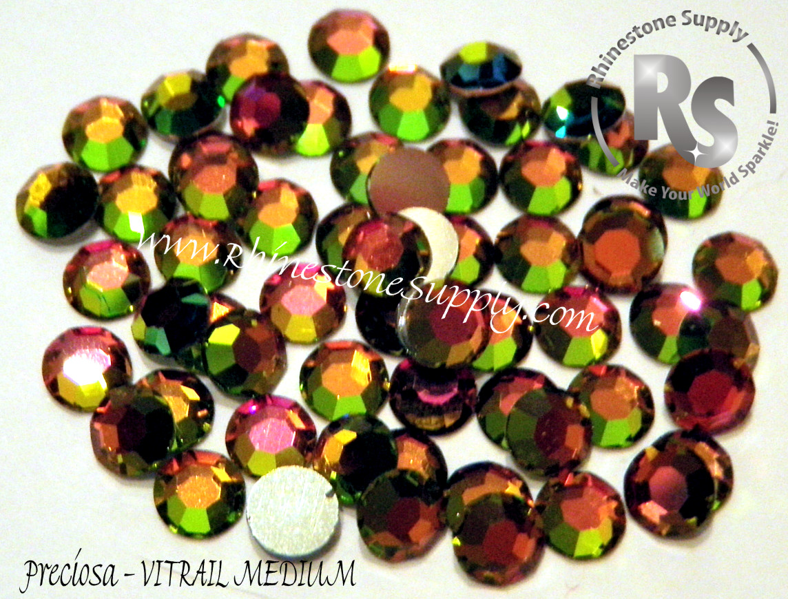 VITRAIL MEDIUM Hot Fix Preciosa Flatback Rhinestones