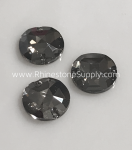 ROUND 12mm 3750 Sew On CRYSTAL SATIN Flatback Rhinestones