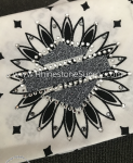 Biker Bling Bandana for the Harley Ladies - Choice of colors with Charcoal glitter shield
