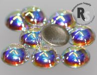 34ss Crystal AB 2080/4 Flatback Pearl Cabochons