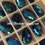 BERMUDA BLUE 18mm x 10.5mm 3230 Swarovski Sew On PEAR
