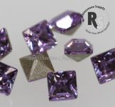 5mm VIOLET Square 4428 Cushion Back Swarovski Point Back