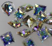 4mm CRYSTAL AB Princess Square 4447 Swarovski Point Back
