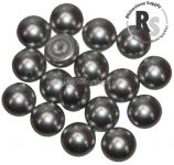 06mm Light Grey Pearl Cabochon 5817 1/2 Drilled