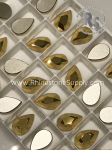 2303 14x9mm AURUM PEAR Flatback Rhinestones