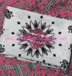 Biker Bling Bandana for the Harley Ladies - Choice of colors with PINK glitter shield