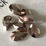 2303 08x5mm ROSE GOLD PEAR Flatback Rhinestones