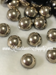 20ss Low Dome Flatback PEARL - GOLD (AURUM)