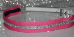 Rhinestone Sport Sparkle Stretch Headband in PINK