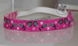 Tennis Pink Sport Stretch Headband