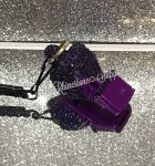 WHISTLE - PURPLE with Rhinestones & Lanyard