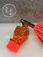 WHISTLE - ORANGE with Sun Rhinestones & Lanyard