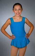 TURQUOISE Mesh Tank Dress by Main Street Figure Skatewear