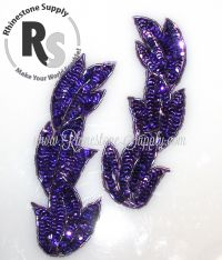 "Amethyst (Purple) Applique - Set of 2 - 5.5"" x 2"""