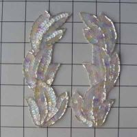 "Pastel Iris Applique - Set of 2 - 5.5"" x 2"""