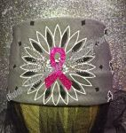 Biker Bling Bandana for the Harley Ladies - Pink Ribbon and Wings