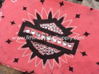 Biker Bling Bandana for the Harley Ladies - Strawberry Pink with glitter shield