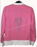 Flamingo Pink Ice Skater Jacket with Rhinestone Skater in Bielman Spin
