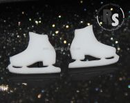 ICE SKATE Earrings - Acrylic in choice of Black or White