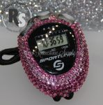 Stopwatch by Sportline with PINK Rhinestones