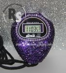 Stopwatch by Ultrak with PURPLE Rhinestones