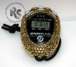 Stopwatch by Sportline with AURUM (GOLD) Rhinestones